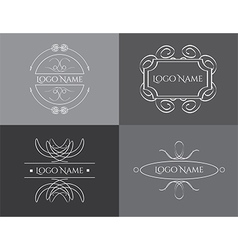Logo vintage set vector