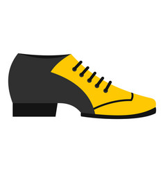 Male tango shoe icon isolated vector