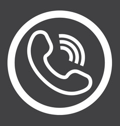 Phone call line icon contact us and website vector