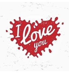 Retro heart shape symbol logo concept i love you vector