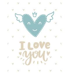 Scandinavian romantic card vector