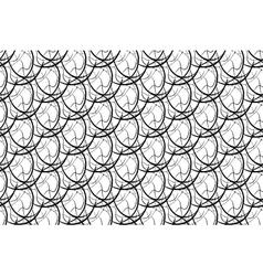 Seamless Monochrome Geometric Pattern vector image vector image