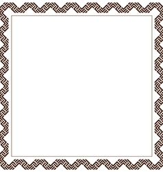 Simple geometric ethnic frame variation 6 vector