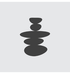 Spa stone icon vector image