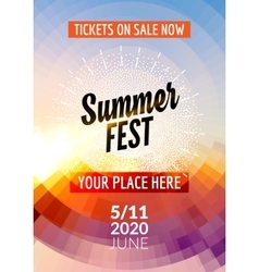 Summer festival flyer design template Summer vector image