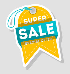 super sale isolated advertising tag vector image