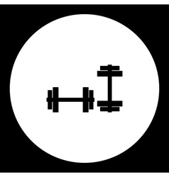 Two dumbbells for strenghtening gym black simple vector