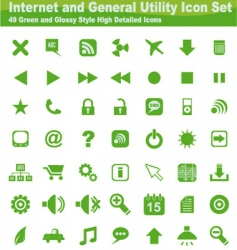 web and internet icon set vector image
