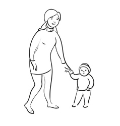 Woman with child vector image