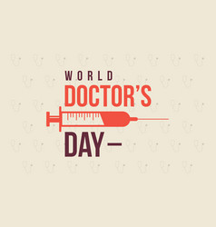 World doctor day style background collection vector