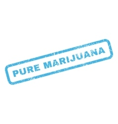 Pure marijuana rubber stamp vector
