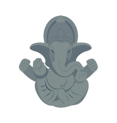 India elephant budda vector
