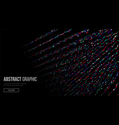 Composed of particles abstract graphic design vector