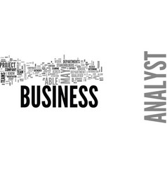What does a business analyst do text word cloud vector