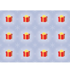 Pattern with presents and snowflakes vector