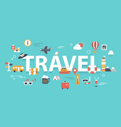 travel banner vector image