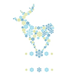 Stylized silhouette of stanging deer formed by vector