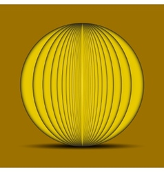 Abstract oval yellow background with shadow on the vector