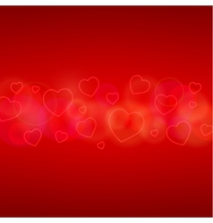 Valentines day card with hearts vector