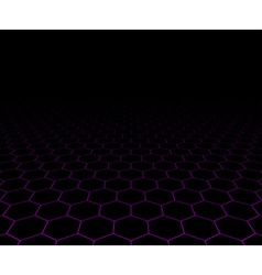 Perspective grid hexagonal surface vector