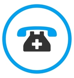 Clinic phone rounded icon vector