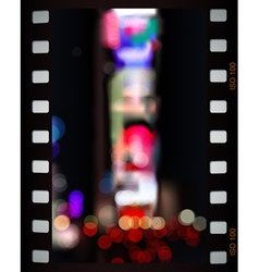 Time Square lights vector image