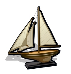Childrens toy ship on a white background vector image