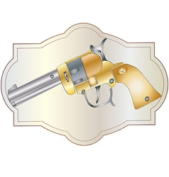 Handgun revolver vector