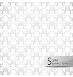 abstract seamless pattern flower mesh white vector image