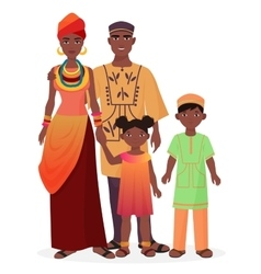 African family african man and woman with boy and vector