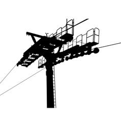 Air gondola lift vector