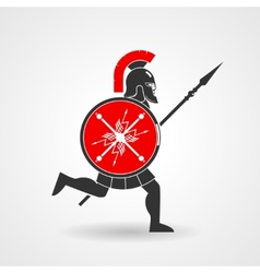 Ancient legionnaire warrior icon vector
