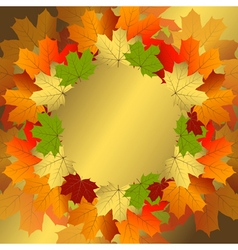 Autumn decorative floral frame vector image vector image