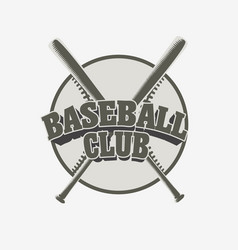 baseball club badge or logo sport team vector image