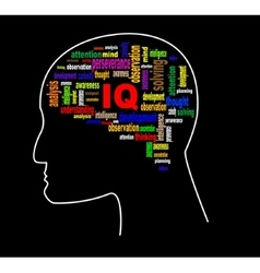 Brain profile image vector image