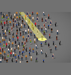 businessman spotlight human resource and vector image