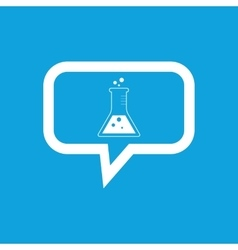 Conical flask message icon vector