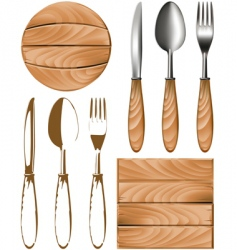 cutlery tree vector image vector image