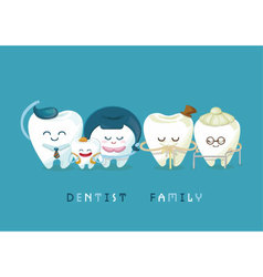 Dental family vector