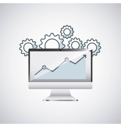 desktop computer technology icon vector image