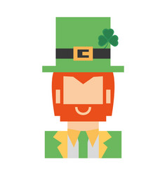 Face leprechaun st patricks day vector