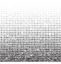 Grunge seamless halftone background with noise vector image vector image