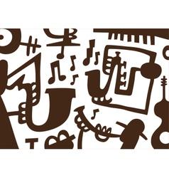 Jazz musicians -doodles vector image vector image