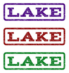 Lake watermark stamp vector