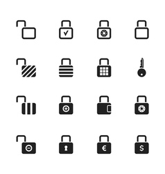 Lock icon2 vector image vector image