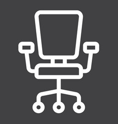Office chair line icon furniture and interior vector