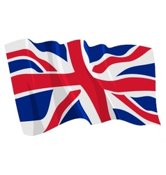 political waving flag of united kingdom vector image