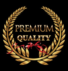 Premium quality golden laurel wreath vector image vector image