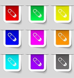 Pushpin icon sign set of multicolored modern vector