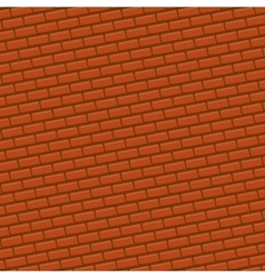 Red brick wall background vector